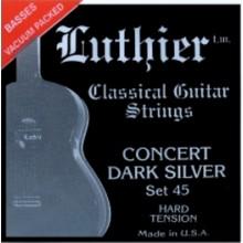 20132 Luthier Concert Dark Silver SET 45. Hard Tension