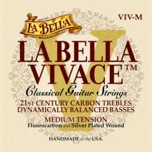 25731 La Bella Vivace Fluorocarbon classical guitar strings - Medium Tension
