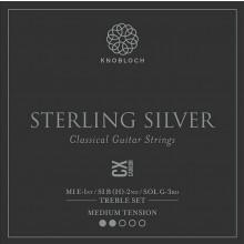 25788 Knobloch Sterling Silver CX Carbon Treble Set Tensión Media