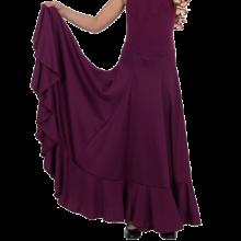 Falda flamenca de nesgas con vuelo de capa y 1 volante 143