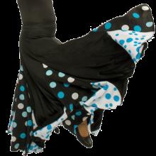 Falda flamenca de nesgas con godes y minigodes EF006