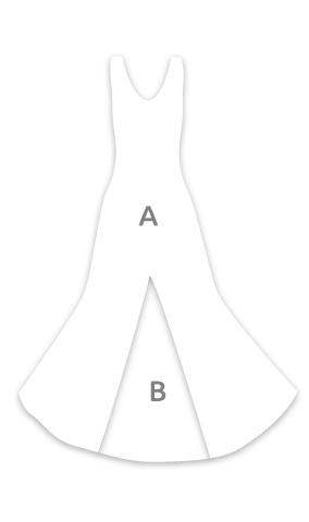 E4065 Vestido flamenca sin mangas con un godet trasero