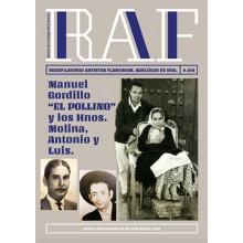 """28106 Revista de investigación flamenca RAF Nº 18 - Manuel Gordillo """"El Pollino"""" y los Hnos. Molina, Antonio y Luis."""