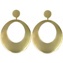 Pendientes flamenco ovalado de metal dorado 56288