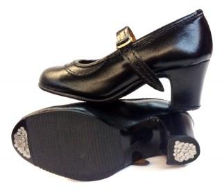 674 Zapatos iniciación niña en piel