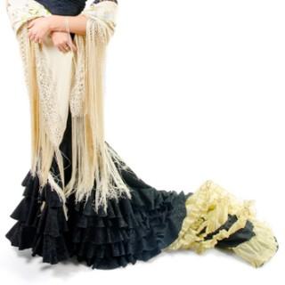 """Falda de cola """"Canela Pura"""" detalle interior"""
