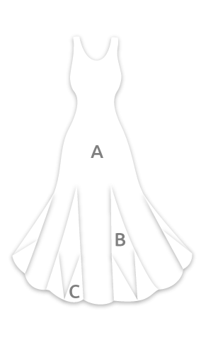 E4337 Vestido flamenca con espalda de 6 tirantes cruzados