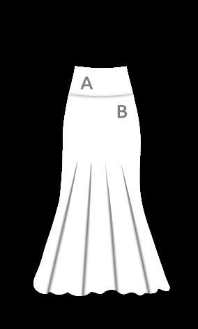 EF271 Falda flamenca básica estampada sin godet