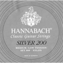 20880 Hannabach Silver 200. SET 900 Tensión Medium/Low