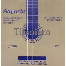 24402 Cuerdas de guitarra Augusta Titanium - Tensión Media