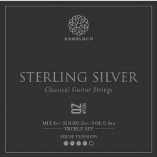 25793 Knobloch Sterling Silver QZ Nylon Treble Set Tensión Fuerte