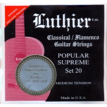 27925 Luthier Popular Supreme SET 20 Súper Carbón Guitarra Clásica Tensión Media