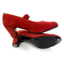 18977 Zapato Westcall en ante con hebilla y clavos
