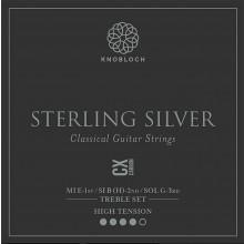25790 Knobloch Sterling Silver CX Carbon Treble Set Tensión Fuerte