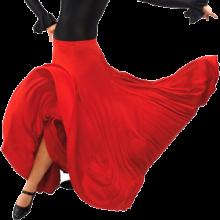 Falda flamenca para ensayo con 8 godes y amplio vuelo EF105