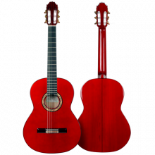HERMANOS SANCHIS LOPEZ GUITARRA FLAMENCA CIPRÉS MODELO 1F EXTRA color rojo