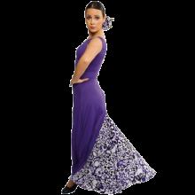 Vestido flamenca sin mangas con un godet trasero E4065