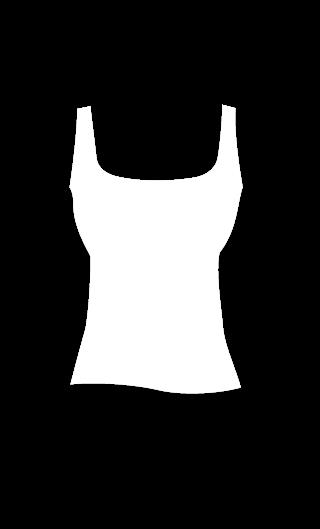 E4548 Cuerpo tirante camiseta escotes amplios