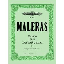 27083 Método de castañuelas. Curso 3º Parte práctica con acompañamiento de piano - Emma Maleras