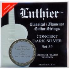 27927 Luthier Concert Dark Silver SET 35 Súper Carbón Guitarra Clásica Tensión Media/Fuerte