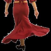 Falda flamenca con 3 godes el posterior más alto EF118