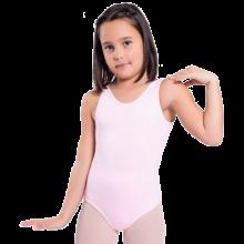 Body sin mangas para danza y baile flamenco niña