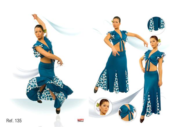 Falda flamenca con vuelo