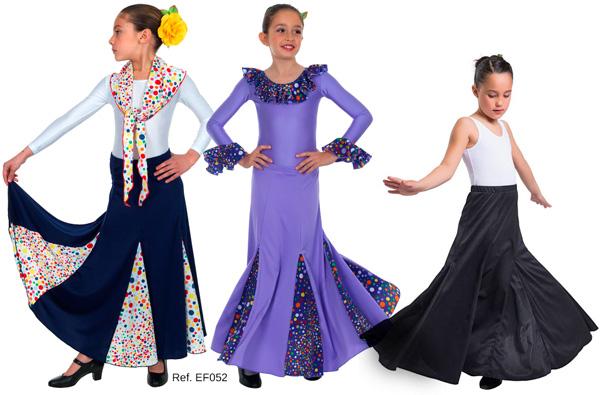 Códigos promocionales ropa deportiva de alto rendimiento sitio web profesional Falda niña de nesgas con godets entallada a cadera EF052