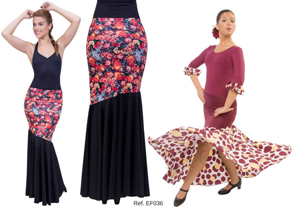 Falda baile flamenco EF036 Happy Dance