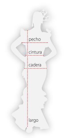 medidas para vestidos y faldas mujer